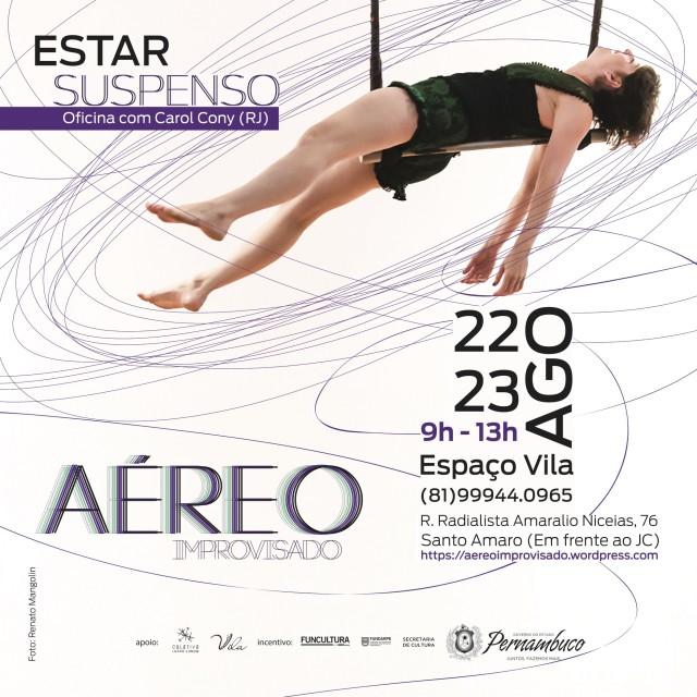 Workshop une a liberdade do improviso na dança  aos aéreos circenses – Inscrições abertas e gratuitas